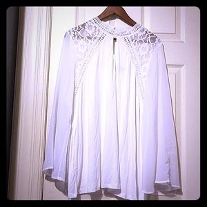 Frilly White Blouse